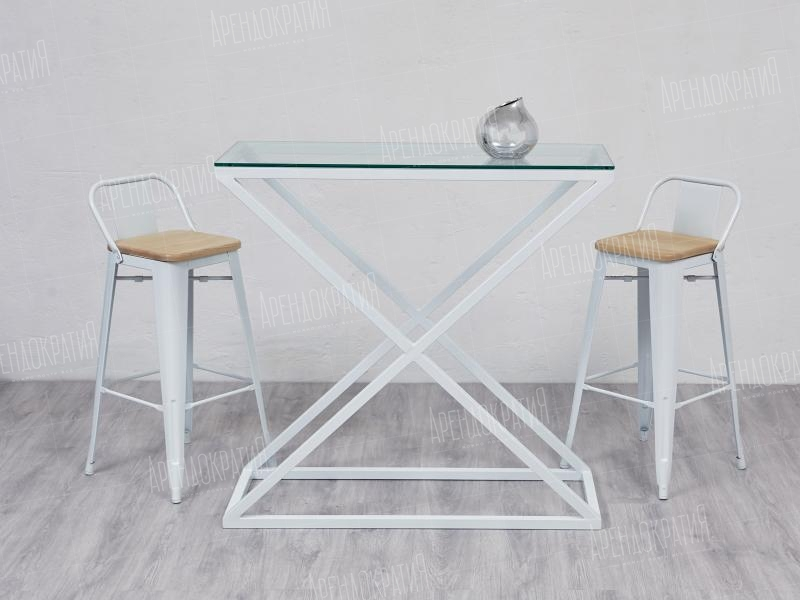 Фуршетный стол X-Loft White Glass в интерьере
