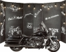 Фотозона с мотоциклом Harley Road King Police в аренду
